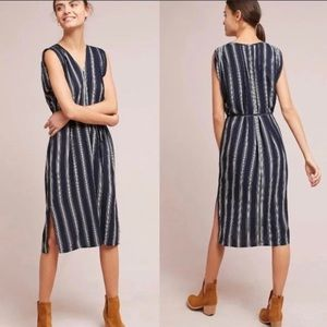nwt anthro • porridge striped nautical dress